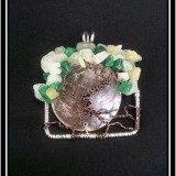 Jade Sunset Tree of Life Necklace Pendant