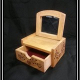 Country Style Heart Box with Mirror