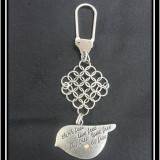 """Think free, live free, fly free, love free, be free."" Bird Chainmaille Keychain"