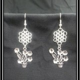 Flower Pot Chainmaille Earrings