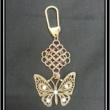 Brass Butterfly Chainmaille Keychain
