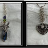 Faery and Heart Chainmaille Keychains