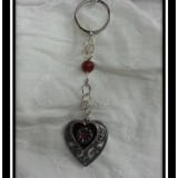 Filigree Heart Chainmaille Keychain