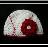 Baseball Hat with Removable Flower