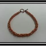 Copper Birdcage Chainmaille Bracelet