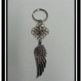 Angel Wing Chainmaille Keychain