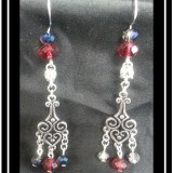 Crystal Elegance Chainmaille Earrings