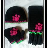 Hat, Scarf & Mitten Sets