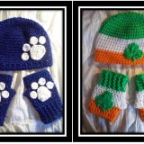 Applique Hat and Fingerless Glove Sets