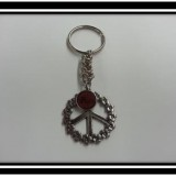 Peace Sign Chainmaille Keychain