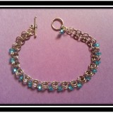 Silver & Aquamarine Bracelet