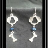 Dog & Bone Chainmaille Earrings