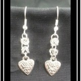 Heart Charm Chainmaille Earrings