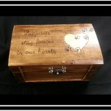 """Paw prints stay forever in our hearts"" Pet Memory Box"