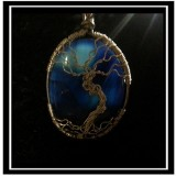 "Blue Onyx ""Tree of Life"" Necklace"