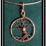 "Copper and Goldstone ""Tree of Life"" Necklace"