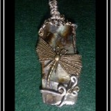 Paua Dragonfly Necklace Pendant.
