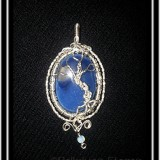 Blue Onyx Tree of Life Necklace Pendant
