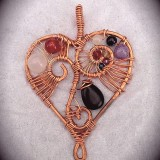 Artistic Love Copper Heart Necklace Pendant