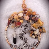 Semiprecious Tree of Life Necklace Pendant